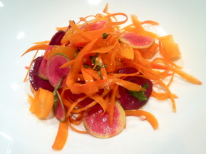 Rainbow Carrot Salad with Oranges and Basil 