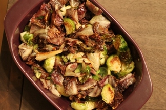 Honey Roasted Radicchio and Brussels Sprouts
