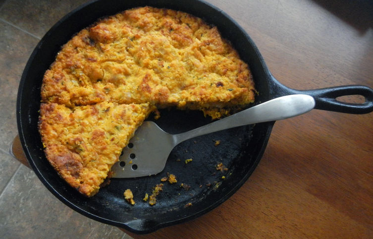 Wintry Corn Bread Pudding