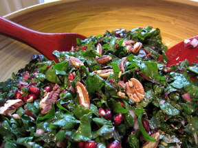 Happy Holidays Chard Salad