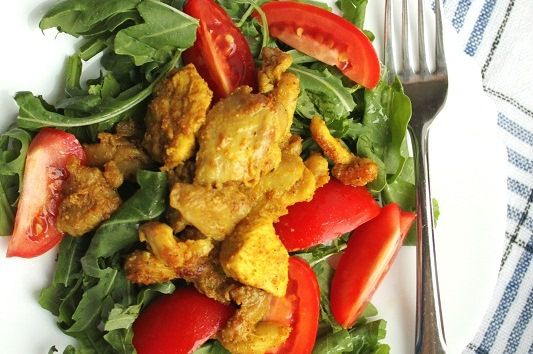Warm Curried Chicken Salad