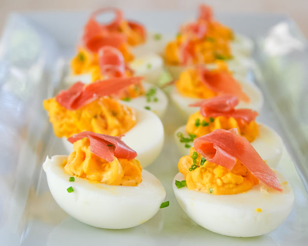 Spicy deviled eggs recipe on for Table 52 deviled eggs recipe