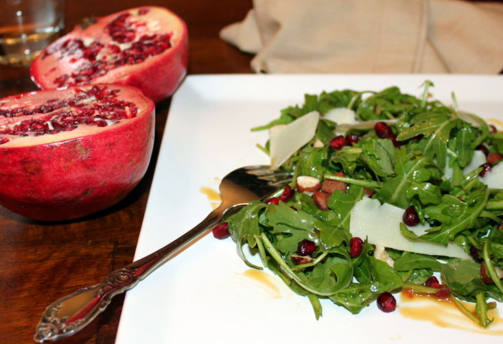 Arugula Salad with Pomegranate and Pecorino