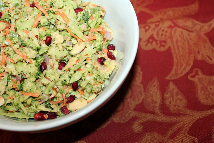 Pomegranate Broccoli Slaw