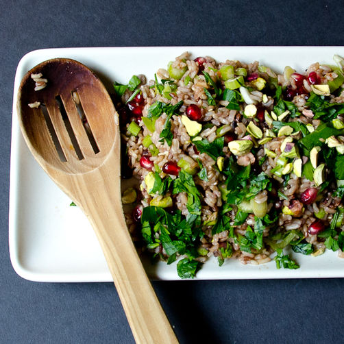 Pomegranate &amp; Pistachio Wild Rice Pilaf