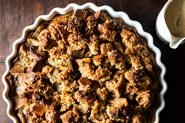 Rum Glazed Coconut Bread Pudding