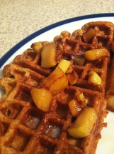 Apple Cider Waffles with Caramelized Apples