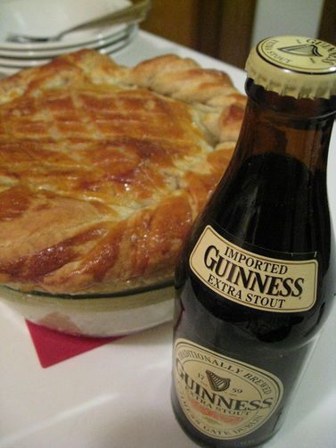 Steak & Guinness Puff Pastry Pie