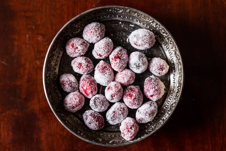 Orange Blossom Candied Cranberries