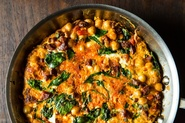 Chickpea, Spinach, and Chorizo Fritatta