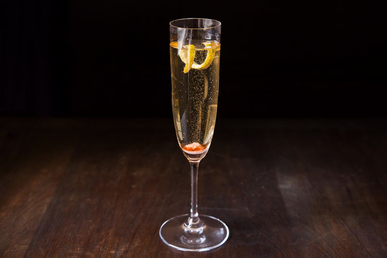 Champagne cocktail from Food52