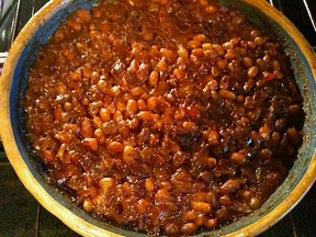 Fake Snow Day Baked Beans