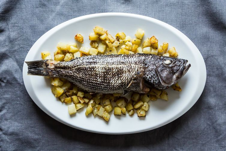 whole roast fish