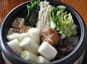 New Year's Sukiyaki, Lots of Leeks!