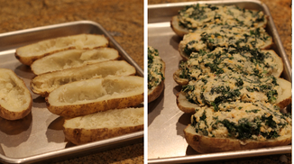 Twice Baked Potatoes with Kale
