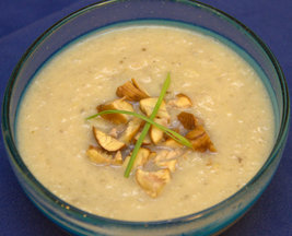 Leeky Sunchoke Bisque with Chestnuts