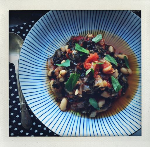 Kale, Tomato + White Bean Stew