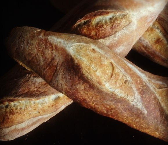 Minimalist No-knead Sourdough Baguettes (2-3 days)