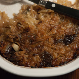 Carmelized sauerkraut with prunes, herbs and honey by Marilyn Ringwood