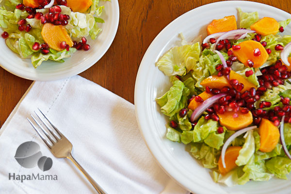 Mexican Christmas Salad With Persimmons