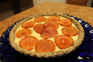 Persimmon Cheese Plate Tart