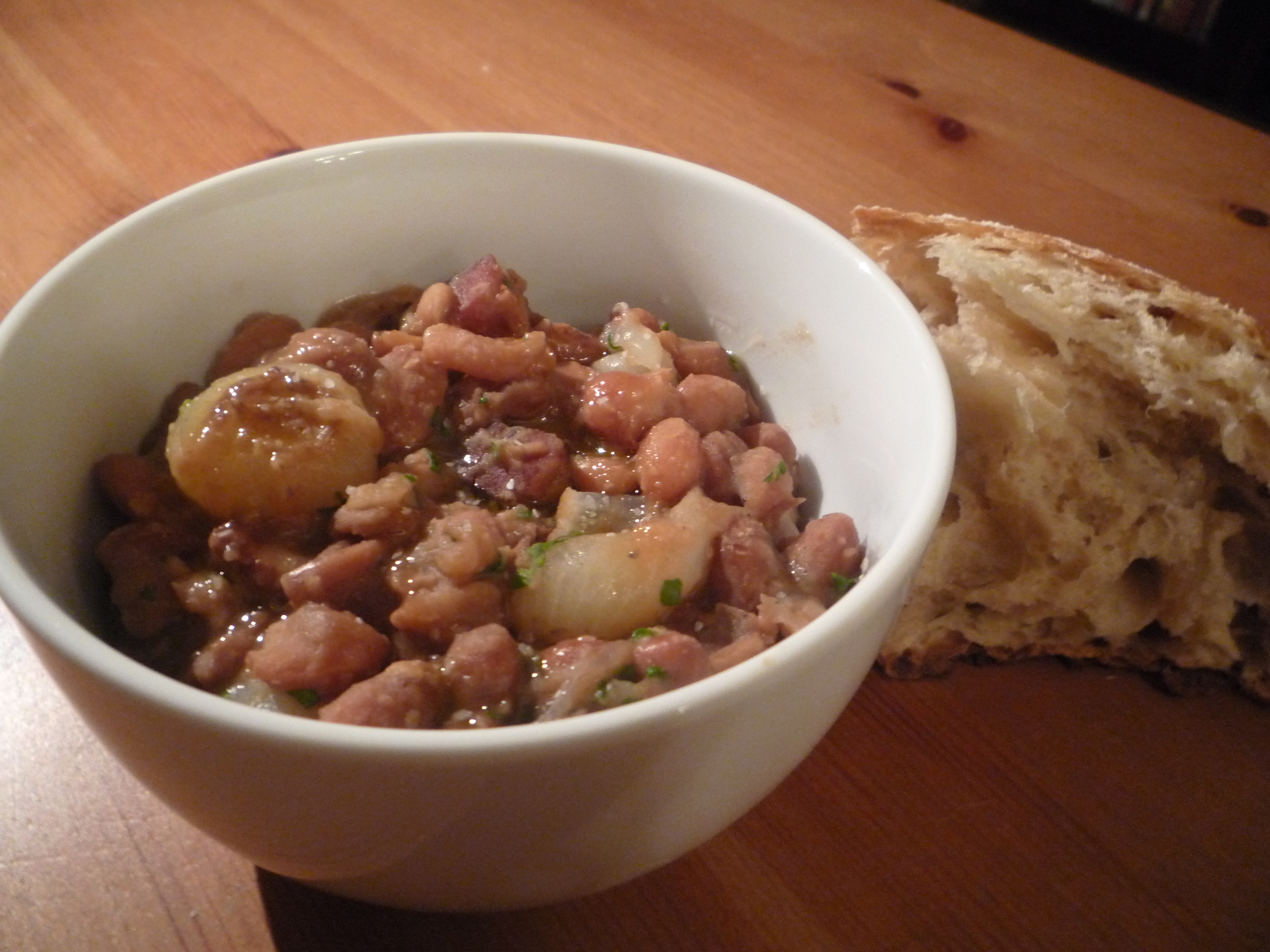 Borlotti Beans Braised with Cipolline