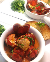Chili Lobster with Texas Toast