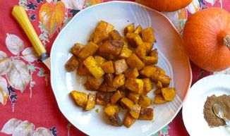 Maple-glazed Spiced Winter Squash