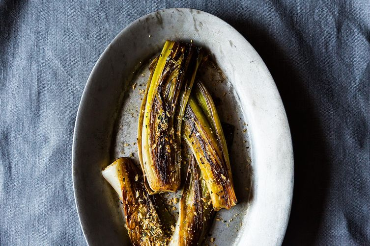 Buttery Braised Leeks with a Crispy Panko Topping Recipe on Food52