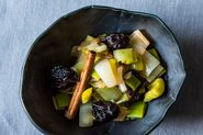 Greek-Style Leeks with Prunes and Cinnamon