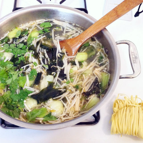A Vegetable Lover's Miso Soup