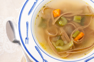 Vegetarian Flu-Fighting Noodle Soup