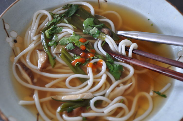 Spicy Ginger and Shiitake Noodle Soup