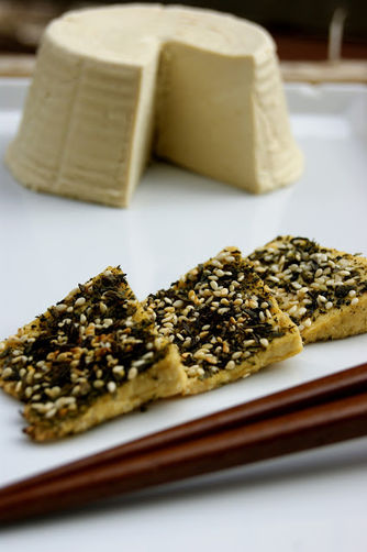Tea crusted tofu