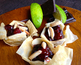 Cherry Lime Truffle Cups