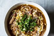 Spicy Sesame Pork Soup with Noodles
