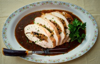 Stuffed Turkey Breast Marsala (or Poor Man&#x27;s Veal)