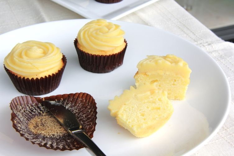 Chamomile Lemon Cupcakes with Honey Buttercream Frosting Recipe on ...