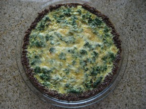 Swiss Chard Quiche with a Rice Crust