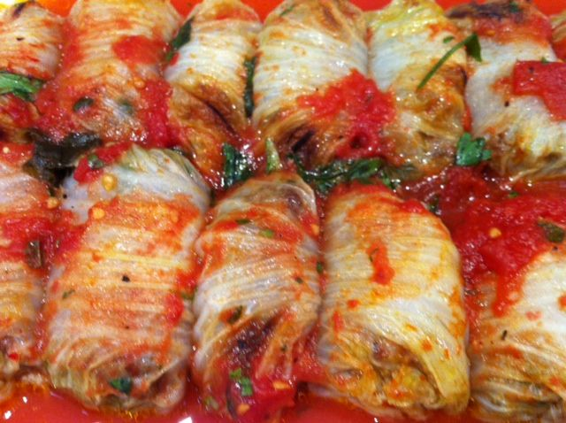 ... and Sour Braised Pork Stuffed Napa Cabbage Rolls Recipe on Food52