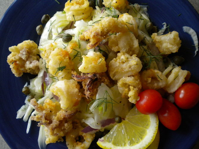 Fennel Crisp Calamari Salad Recipe On Food52