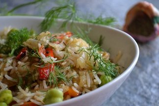 Fennel & green Garbanzo Polo