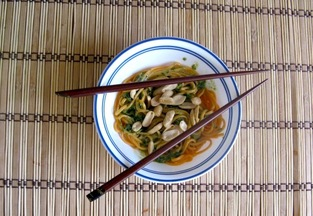 Cilantro Peanut Sauce and Noodles