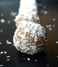 Coconut Lemon Bombs-No Bake Cookies