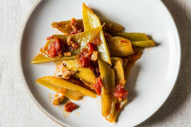 Marcella Hazan's Braised Celery with Onion, Pancetta, and Tomatoes ...
