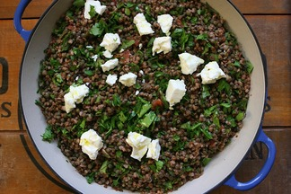 Green Lentils with Kasha