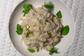 Lemon Lime Risotto with Basil Mascarpone