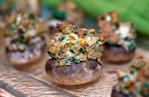 crabmeat stuffed mushrooms