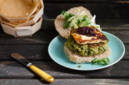 Quinoa, Fava Bean, and Chard Veggie Burgers