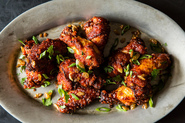 Korean Style Crispy Rice Chicken Wings